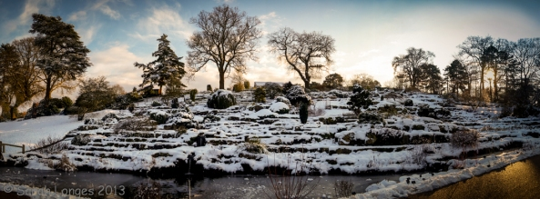 Wisley Rock Gardens in the Snow