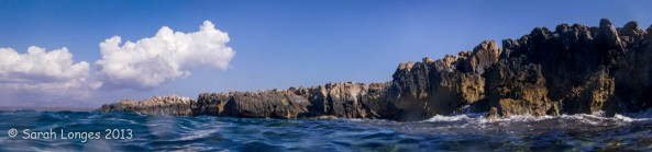 The Rock Ledge Photographed From In The Sea