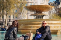 Relxing by the fountains