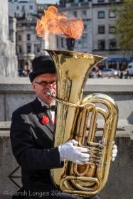 Unusual street entertainer