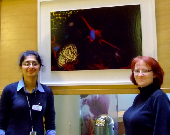 Dr Zahida Zahoor PhD and myself with our finished piece