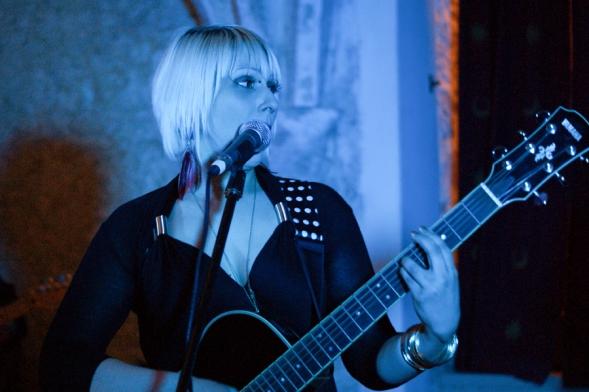 Julia on guitar