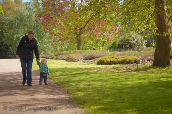 Walking with Mummy