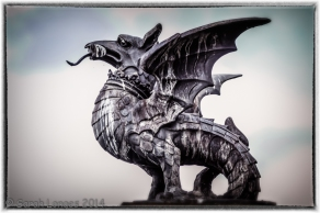 Welsh Dragon Statue