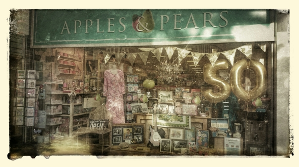 Apples & Pear 1960's Window Display