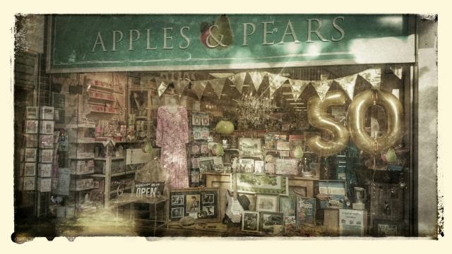 Apples & Pear 1960's Window Display