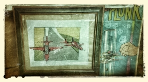 1960's textile cross-stitch of The Red Arrows