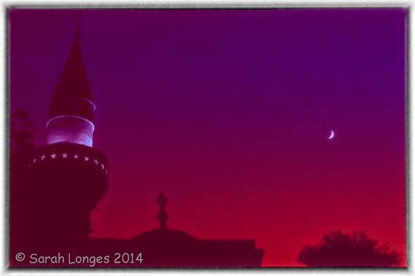Minaret and moon