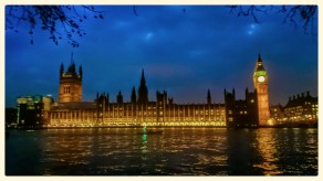 Palace of Westminster by night