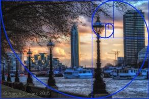 River Thames fibonacci spiral