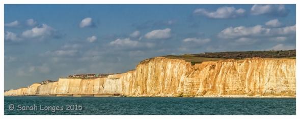 The cliffs leading toward Brighton