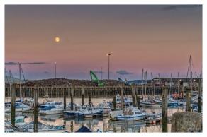 Newhaven Marina at dusk