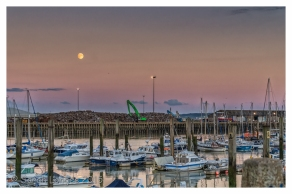 Newhaven Marina at dusk