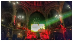 Union Chapel and film screen