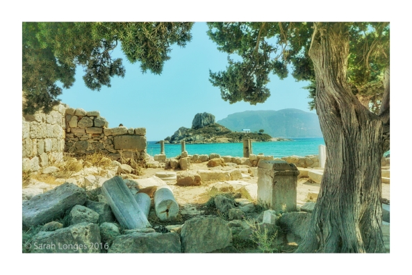 Kastri Island viewed from the ruins of Agios Stefanos
