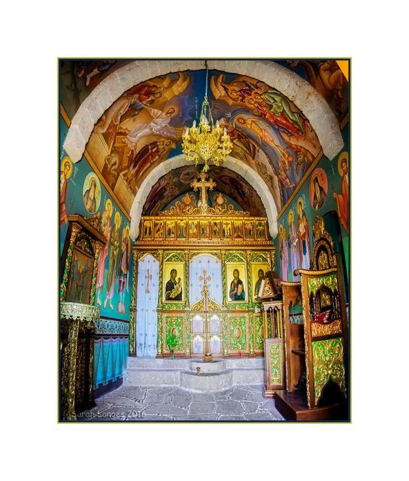 The inside of Agios Ioannis Chapel