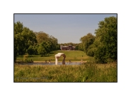 Hyde Park, The Henry Moore Arch, view over The Serpentine to Kensington Palace