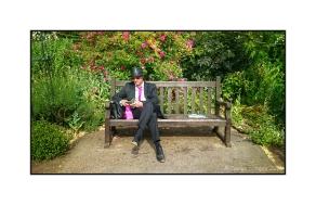 Simon in Hyde Park Rose Garden