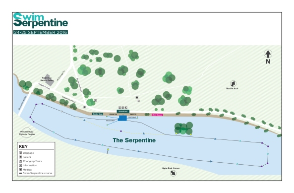 Swim Serpentine Course Map