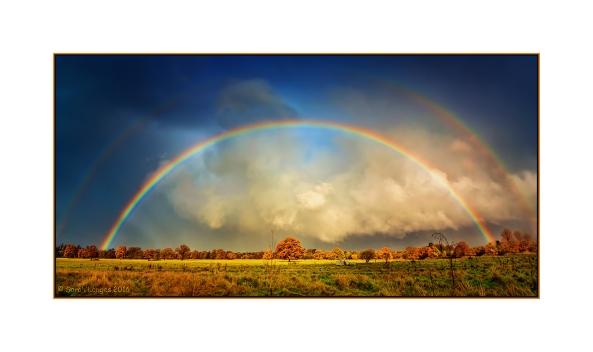 Rainbow Over Wisley Farmland