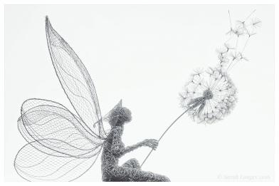 Fairy with dandelion clock at Trentham Gardens