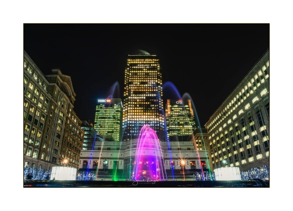 Canary Wharf light installations
